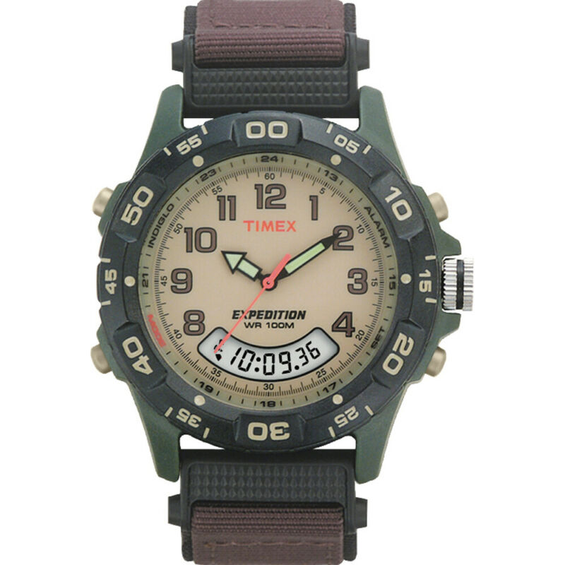 Timex Expedition Resin Combo Classic Analog Green/Black/Brown  (T45181)