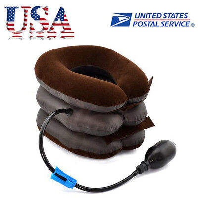 Traction Neck Pillow (Air Inflatable Pillow Cervical Neck Headache Pain Traction Support Brace US)
