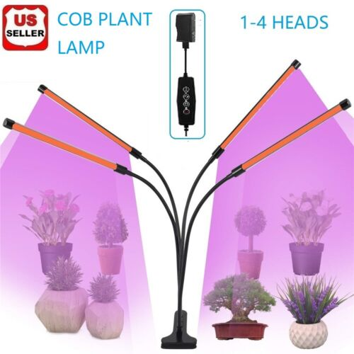 1- 4 Heads LED Grow Light Plant Growing Lamp Light for Indoor Plants Hydroponics Grow Light Kits