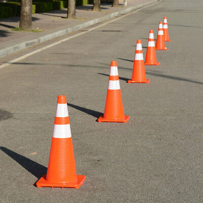 6 Pcs 28 Traffic Safety Cones Reflective Collars Overlap Parking Construction