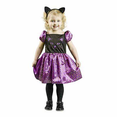 Halloween Dress Up Outfit Cute Cat Dress & Headband Age 18 -24  Months (NEW)