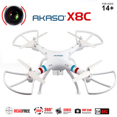 X8C Drone 2.4Ghz 6-Axis Gyro 360° RC Quadcopter UAV RTF UFO with 2MP HD Camera