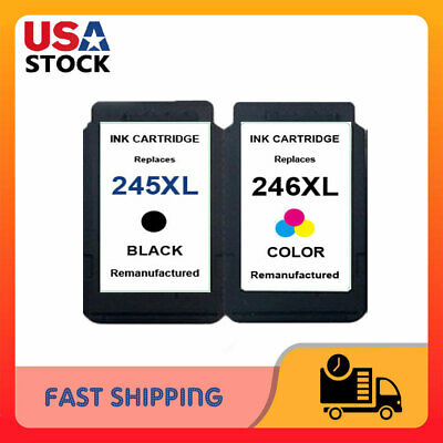PG-245XL Black & CL 246 XL Color Ink for Canon Pixma TS3120 TS3122 MG2525 MG2522