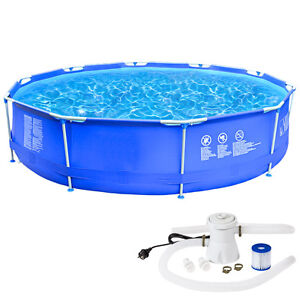 Large swimming pool paddlingpool familiy garden pool for Garden pool pumps and filters