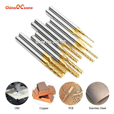 Carbide Milling Cutter Set Router Bits For Wood Cnc Metal Head Groove Pcb 2.4mm
