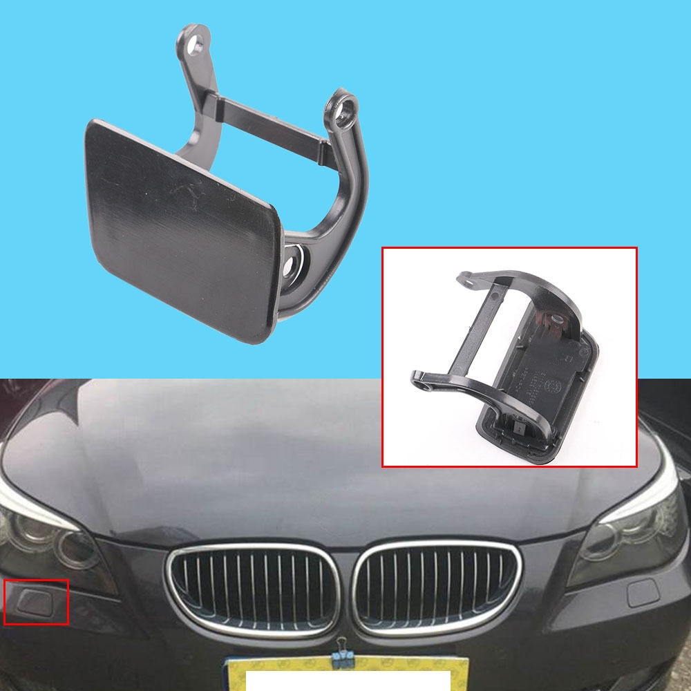 Left Headlight Washer Nozzle Cover Bumper Cap for BMW E65 E66 730i Li 740i 00-05