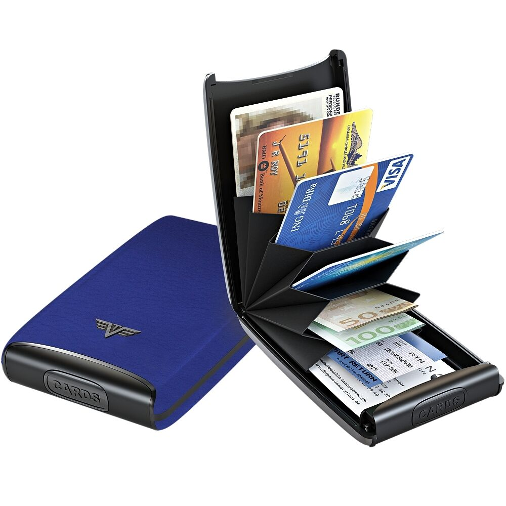 Tru Virtu Leder Aluminium Kreditkartenetui Visitenkartenetui Bankkarten Etui