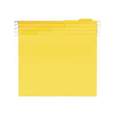 Staples Reinforced Hanging File Folders 5-tab Letter Size Yellow 25bx 863739