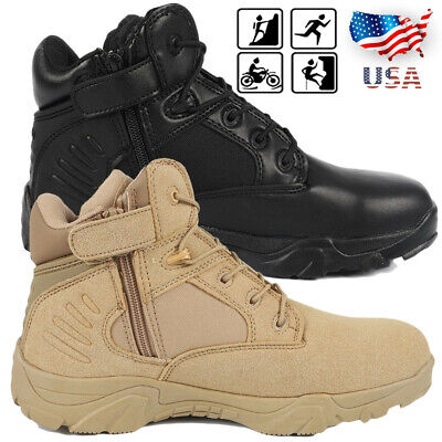 Mens Military Tactical Survival Ankle Boots Desert Combat Army Hiking Shoes 511