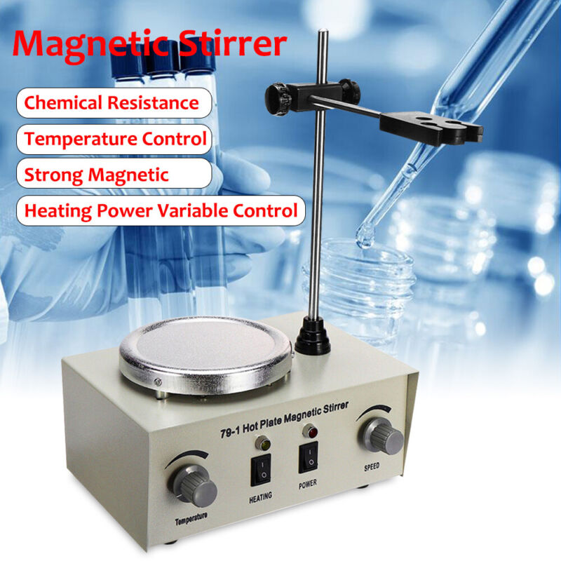 Hot Plate Magnetic Stirrer Electric Mixer Stirring Lab Dual Control 1000ML