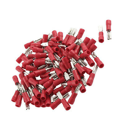 100P Female Spade Crimp Terminal Ends Wire Cable Connector FDD1.25-110 Insulated