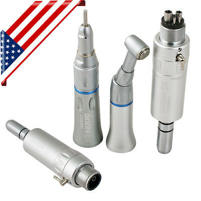 Us Dental Low Speed Handpiece Contra Angle Straight Air Motor Nsk Style 24 Hole