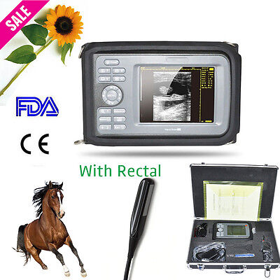 Portable Ultrasound Scanner Machine Animal Rectal Probe Box Veterinary Usa Ship