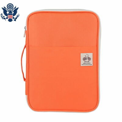 A4 Document Bag File Folder Portfolio Organizer Zippered Waterproof Carry Cases