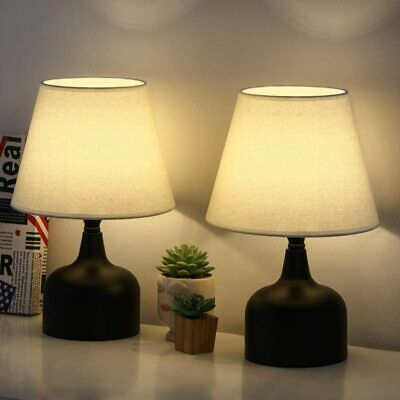 Desk Table Lamp Nightstand LED Light Touch Switch USB Charging outlet Office new