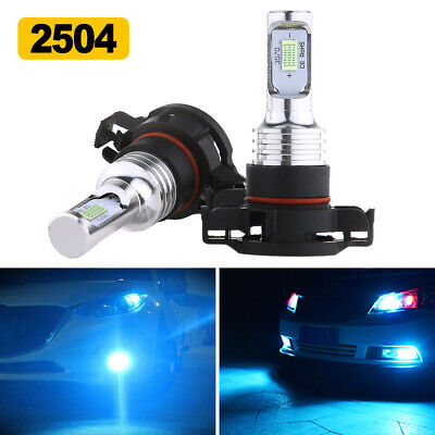 2504 PSX24W LED Fog Light Driving Bulbs Kit 35W 4000LM 8000K Blue Plug And Play