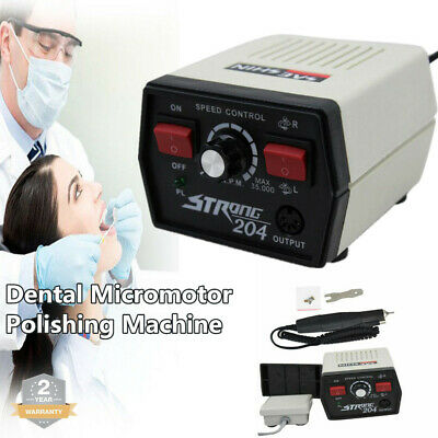 Dental Lab Micromotor Strong 204 Polishing High Speed 35k Handpiece For Marathon