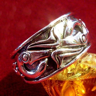 RABEN Ring 925 Silber Wikinger Larp Hexen Viking Raven