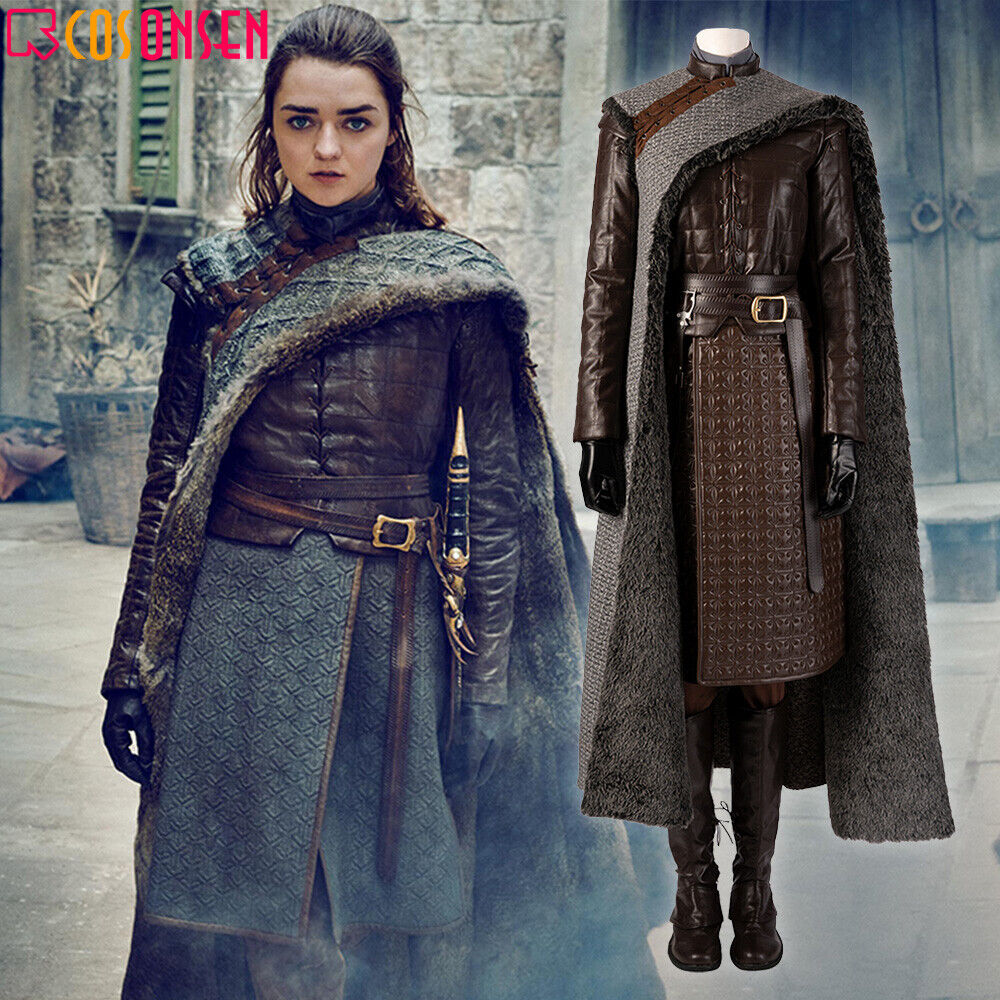 Cosonsen 2019 Game Of Thrones 8 Costume Arya Stark Halloween