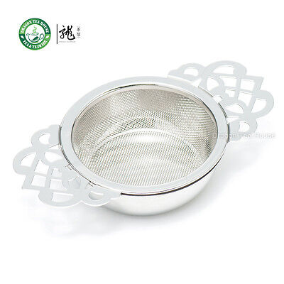 Stainless Steel Fine Mesh Tea Strainer Filter Infuser with Drip Tray Dishwasher Safe Mesh Filters