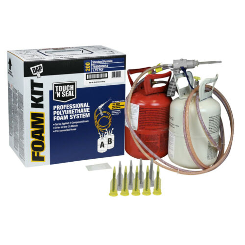 DAP Touch N Seal 200 BF Spray Foam Insulation Kit 1.75 Closed Cell,Free Shipping