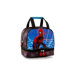 Marvel Spiderman Deluxe Lunch Bag for Kids - 8 Inch Boys Lunch Bag [Multi]