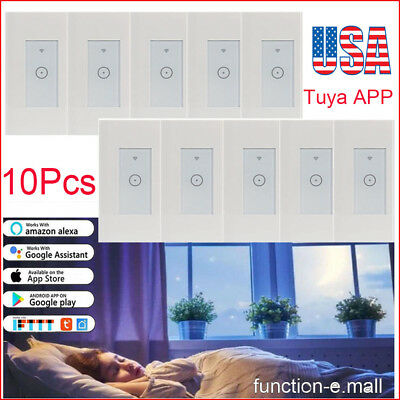 10XSmart WIFI Simplify Wall Switch Works with Alexa Google Home IFTTT Safety Life
