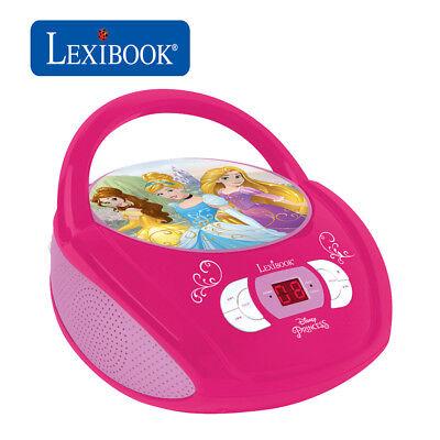 Lexibook Kids Disney Princess Boombox Radio CD Player AUX FM Radio Stereo ()