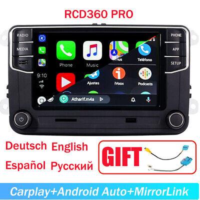 Car Radio CarPlay Android Auto BT RCD360 187B For VW Golf 5 6 Passat Polo Tiguan