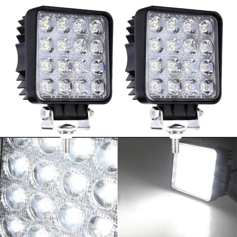 2x 48W LED Arbeitsscheinwerfer Offroad Scheinwerfer 12V 24V für Jeep SUV Bagger