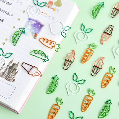 10pcs Cute Fruit Shape Paper Clips Kawaii Hollow Out Binder Clips Tickets Clamp