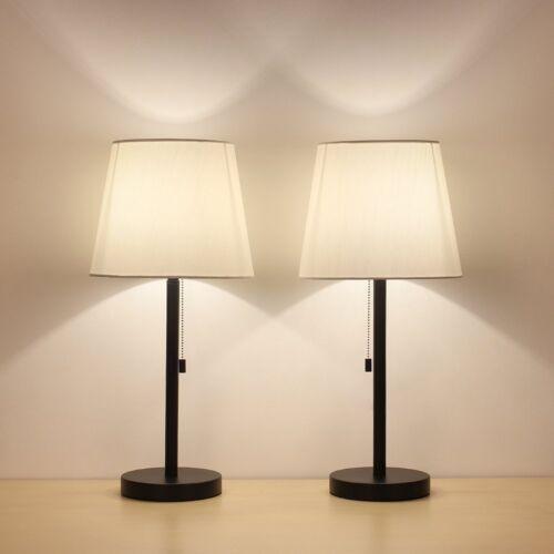 HAITRAL Table Lamp Set of 2 Modern Desk Lamp Nightstand Lamp