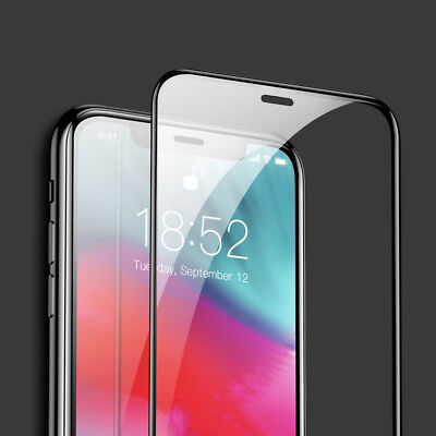 Curved Design (Abgerundet Curved Design Full Cover Schutzglas passgenau für Apple iPhone XR)
