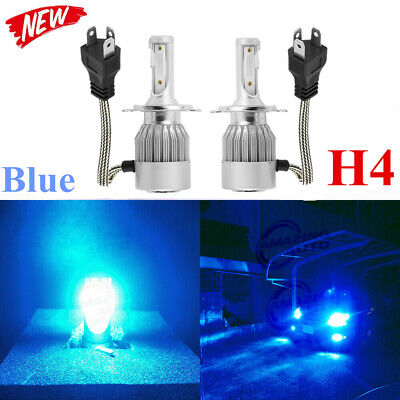 2x H4 9003 CREE LED Headlight Bulbs 8000K 8000LM Kit High Low Beam Blue US ()