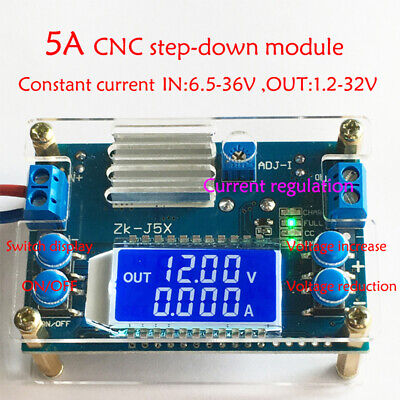 5a Dc-dc Buck Step-down Constant Voltage Current Lcd Power Supply Module New