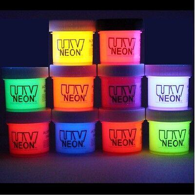 Neon Rave Fluorescent UV Reactive Black Light 10 x 1/2oz Paints, Flouresce