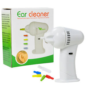 Cordless Vac Vacuum Ear Cleaner Wax Safety Cleaning Remover Earpick Painlessly