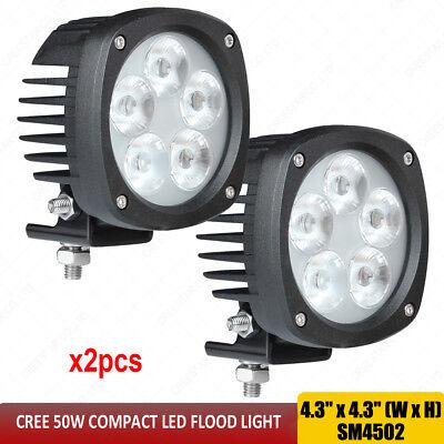 50w Compact Led Flood Light Tl500f Fits John Deere Forklift 444jr 482c 485e X2pc