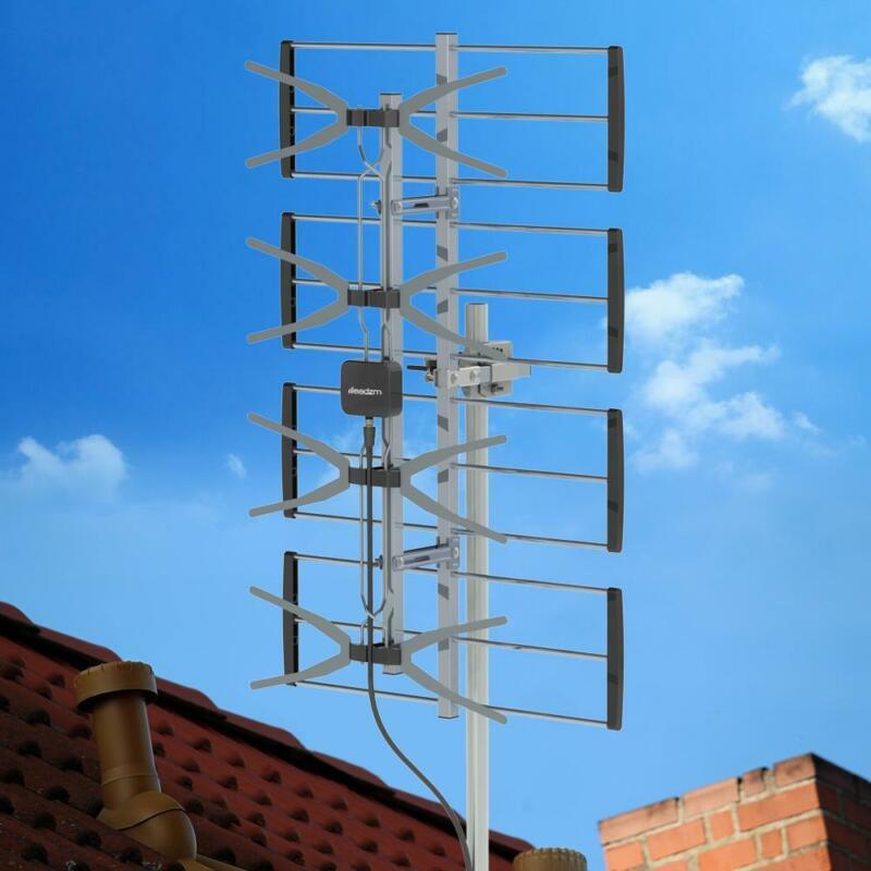 480 Mile Outdoor Amplified TV Antenna UHF Digital HD Signal 1080P 4K HDTV