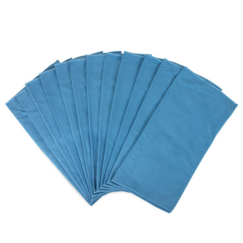 12 Pack of Glass Cleaning Microfiber Cloths 16 x 16 Blue Suede All Purpose Cloth