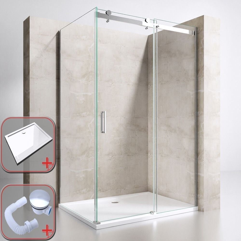 Sliding Shower Double Door New 8mm Thick Glass 1150mm X 1950mm In