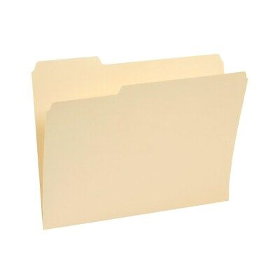Staples Top-Tab File Folders 1/3 Cut Manila Letter-Size 24/Pack 235390