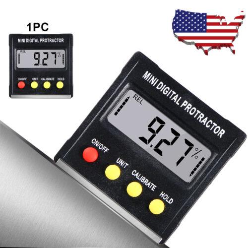 Mini Digital Protractor Gauge Level Angle Finder Inclinometer Magnet US