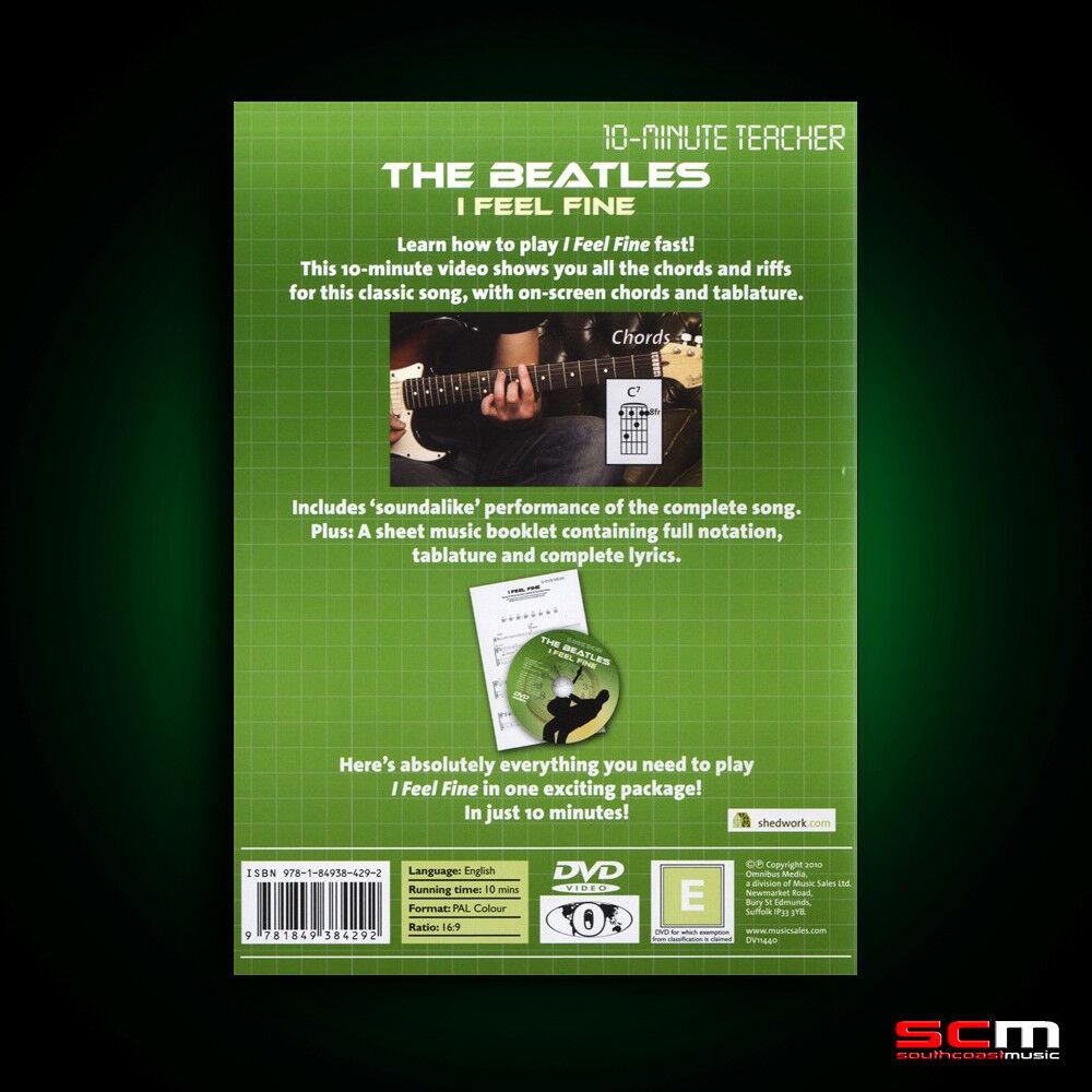Learn To Play The Beatles I Feel Fine 10 Minute Teacher Guitar Dvd