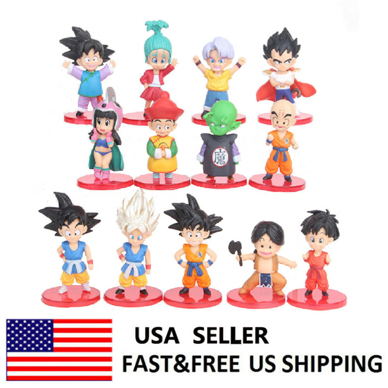 Dragon Ball Goku Kiki Bikbumar Anime Action Figure Collection Toys Gifts 13 Pcs