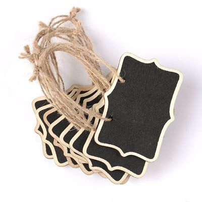 Gift Number Board Tags Wooden Wedding Hanging Double Sided Mini Chalkboard