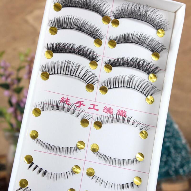 Makeup Handmade Natural Bottom Eyelashes Lower Upper Eye las