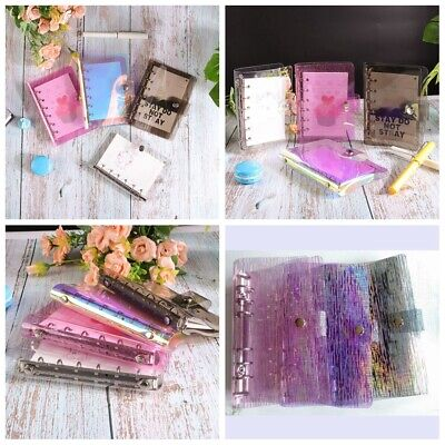 A5a6a7 Pvc Meteor Shower Cover Loose Leaf Ring Binder File Folder With Button