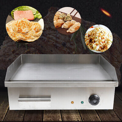 Electric Griddle Flat Top 548350mm Commercial Restaurant Grill Bbq Thermostat