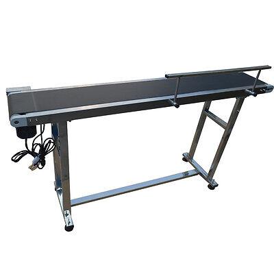 Packaging Device1.5m Long Single Guardrail Pvc Conveyor Belt20cm Wide Us New